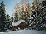Die Almhütte im Winter - Holmbauer Krakauschatten