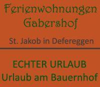 Gabershof - Familie Erlsbacher - Gabershof St. Jakob im Defereggental