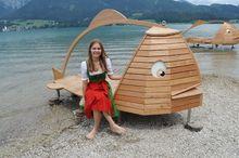 Gschmå Platzl Fish-shaped sun beds