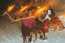Beleuchtete Rodelbahn am Bifang
