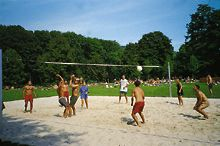 Beach-Volleyball-Platz am Kamp